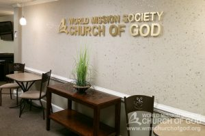 World Mission Society Church of God, Burke, Virginia, VA, WMSCOG, Interior, Welcome Area, Sign