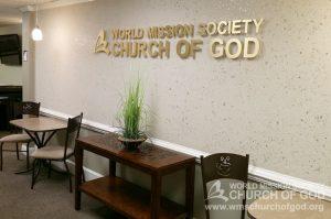 World Mission Society Church of God, Burke, Virginia, VA, WMSCOG, Interior, Welcome Area, Sign