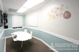 World Mission Society Church of God, Burke, Virginia, VA, WMSCOG, Bible study room, Interior