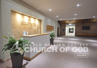 World Mission SocietyWorld Mission Society Church of God in Newport Virginia Lobby