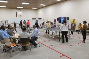 Ping-pong night had a great turnout, with guests enjoying game of table tennis and Bible studies simultaneously.