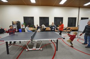 Even the children showed off their skills on the ping-pong tables!
