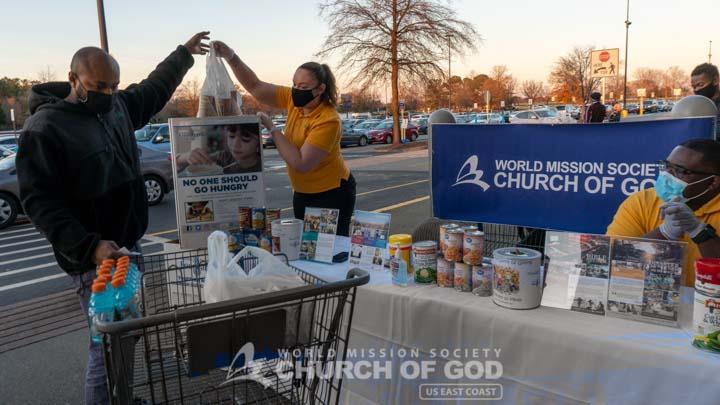 Church of God Newport News Food Drive